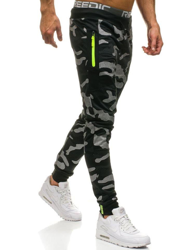 ... Чоловічі трикотажні штани джогери камуфляж-чорні Bolf ML225 ... 386f40fc48eb6
