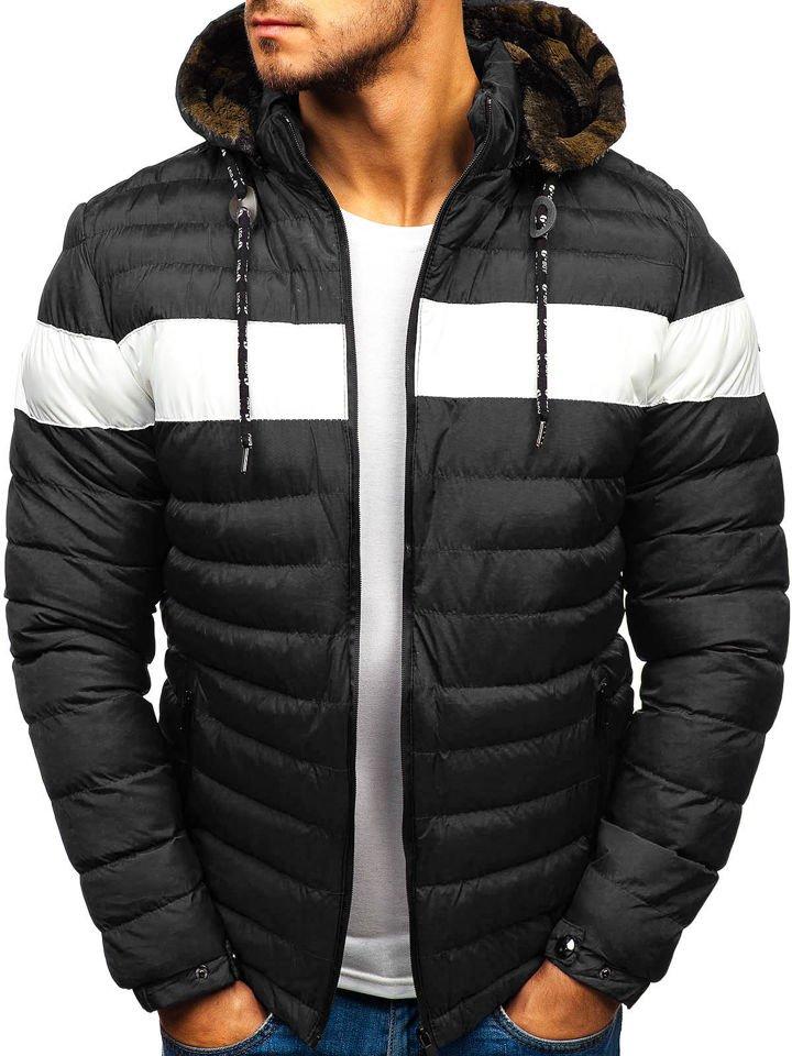 Чоловіча зимова куртка чорна Bolf A410 ЧОРНИЙ 54c7e71138b24