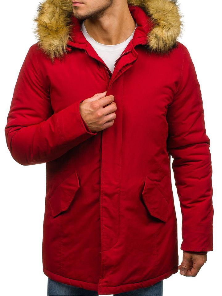 Чоловіча зимняя куртка парка червона Bolf YT303 ЧЕРВОНИЙ b63d76a3aae61