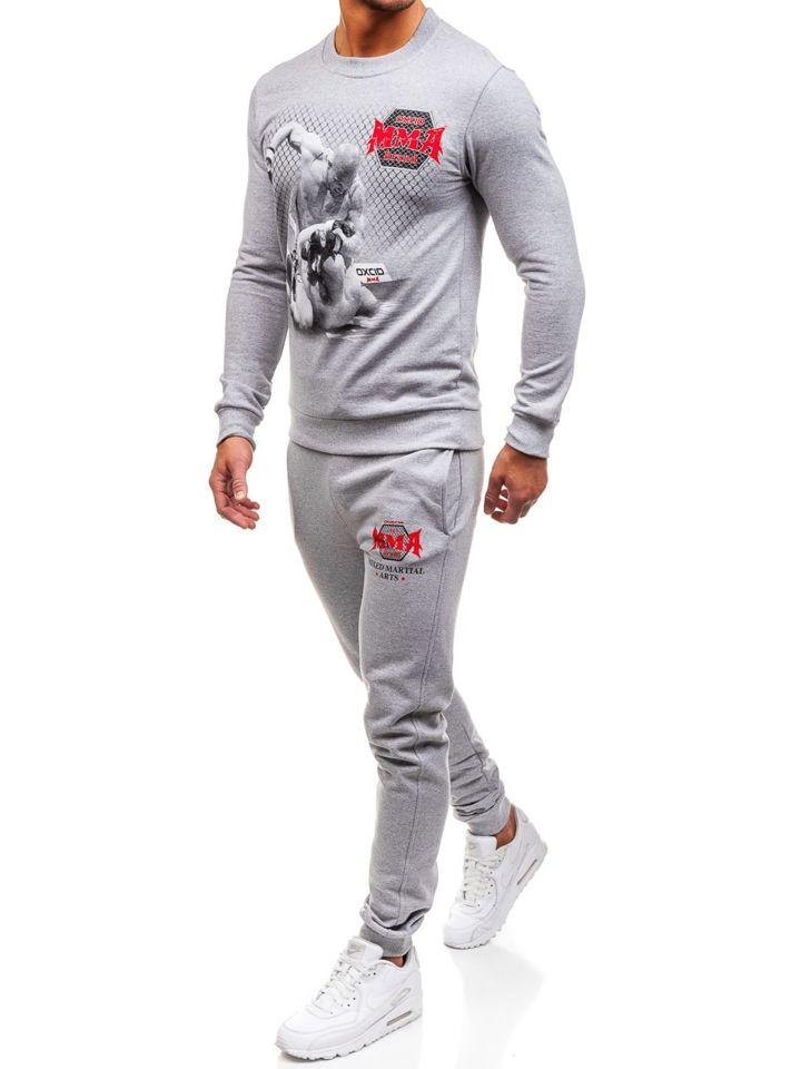 Спортивний костюм чоловічий OXCID X219 сірий SZARY 1c35ea5b0c5c7