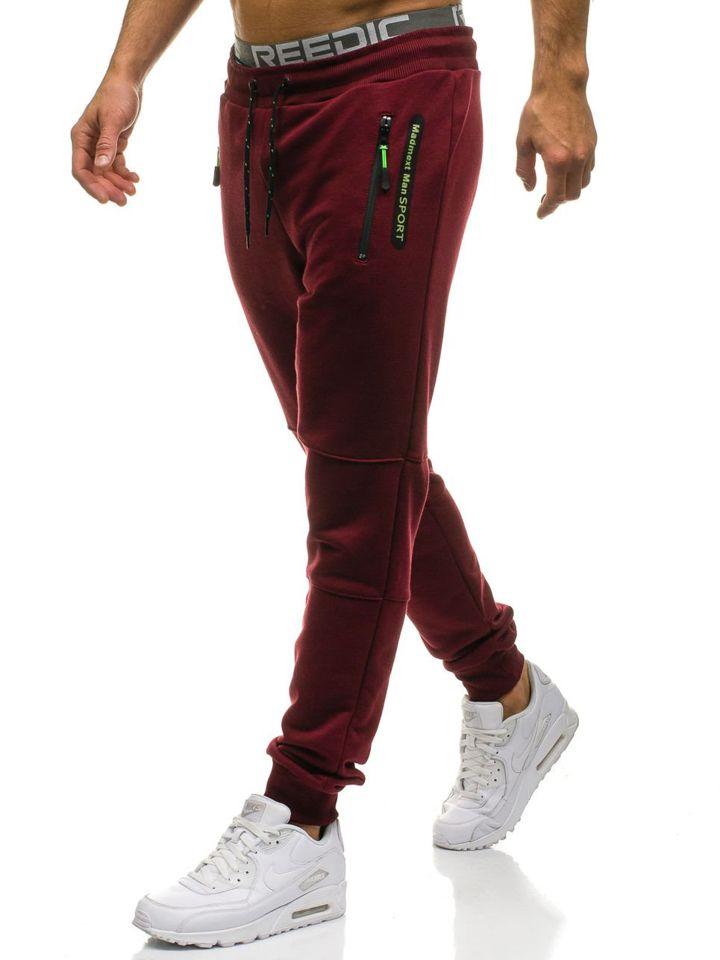 Чоловічі спортивні штани джогери бордові Bolf 1607 БОРДОВИЙ 3773fb99f16f2