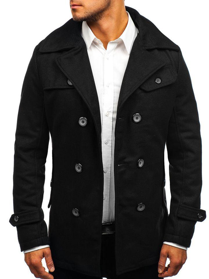 Чорне зимове пальто чоловіче Bolf EX906 ЧОРНИЙ eb19cc23ee436