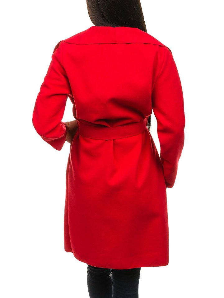 Жіноче подовжене пальто червоне Bolf 1729 ЧЕРВОНИЙ d487d7a869953