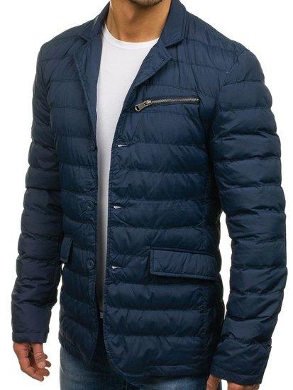 Мужская демисезонная куртка темно-синяя Bolf 392