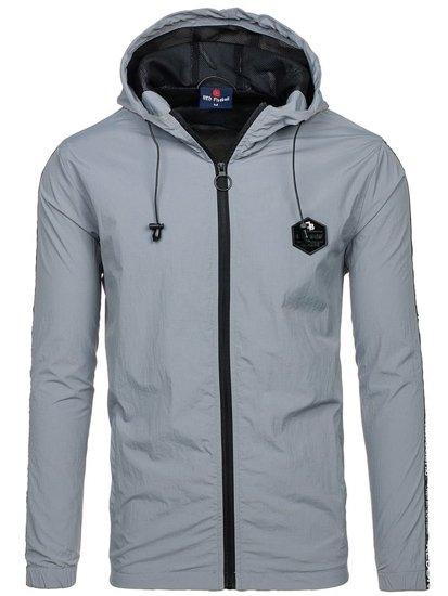Мужская демисезонная куртка серая Bolf HY197