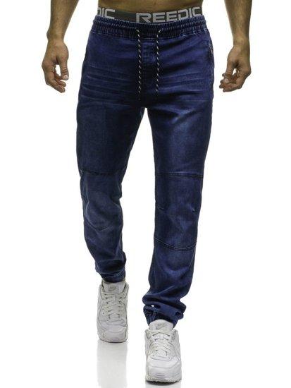 Мужские джинсовые брюки джоггеры темно-синие Bolf HY185
