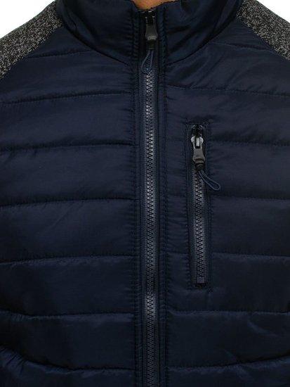 Мужская спортивная куртка темно-синяя Bolf AK73Z