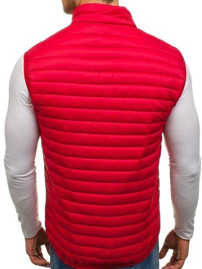 Мужская безрукавка без капюшона красная Bolf 5174