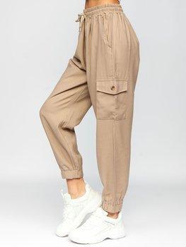 Бежевый карго брюки женские Bolf HM003