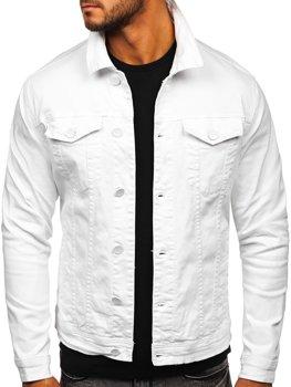 Белая джинсовая мужская куртка Bolf G039