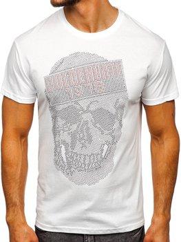 Белая мужская футболка с принтом Bolf KS2108