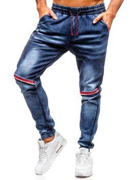 Брюки мужские джинсовые джоггеры темно-синие Bolf Kk1058