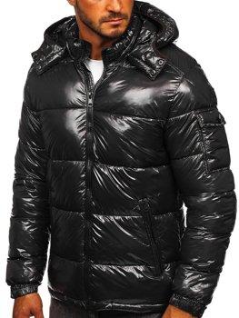 Графитовая стеганая зимняя мужская спортивная куртка Bolf 974