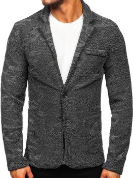 Графитовый мужской повседневный пиджак Bolf KS-7309