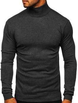Графитовый мужской свитер гольф Bolf YY02