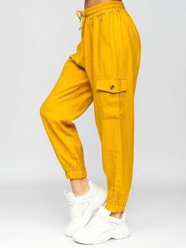 Желтые брюки карго женские Bolf HM003
