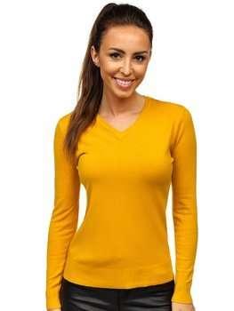 Желтый женский свитер Bolf AL0204L