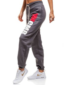 Женские трикотажные брюки антрацитовая Bolf 601