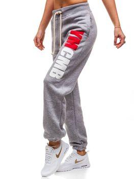 Женские трикотажные брюки серые Bolf 601