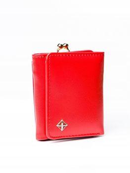 Женский кошелек с эко кожи красный 3003