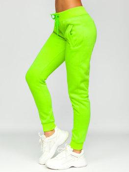 Зелено-неоновые женские спортивные штаны Bolf CK-01
