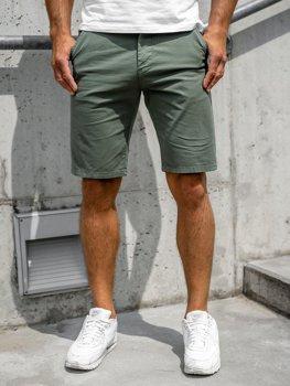 Зеленые мужские шорты Bolf 6142