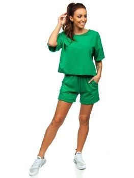 Зеленый женский спортивный комплект Bolf 6256