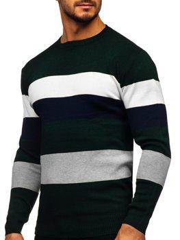 Зеленый мужской свитер Bolf H2005