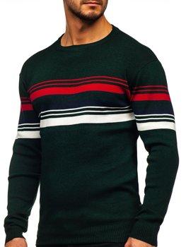 Зеленый мужской свитер Bolf H2061