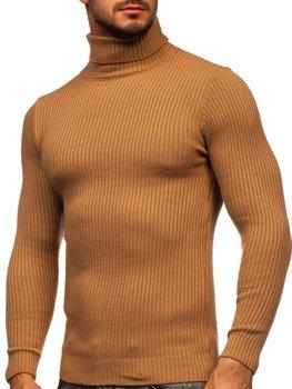 Коричневый мужской свитер гольф Bolf 4607