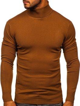 Коричневый мужской свитер гольф Bolf YY02