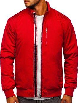 Красная мужская демисезонная куртка Bolf WX031A