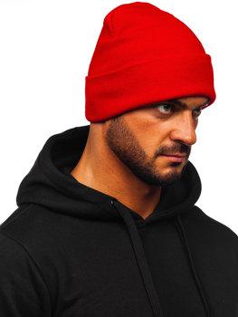 Красная мужская зимняя шапка YW09004M