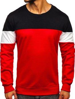 Красная мужская толстовка без капюшона Bolf JZ11053