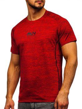 Красная мужская тренировочная футболка с принтом Bolf KS2101