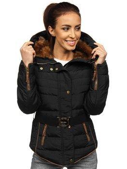 Куртка зимняя женская черная Bolf 11