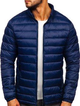Куртка мужская демисезоная стеганая темно-синяя Bolf 1119
