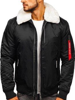 Куртка мужская демисезонная пилот черная Bolf 1787