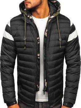 Куртка мужская демисезонная спортивная стеганая черная Bolf 50A462