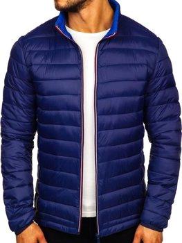 Куртка мужская демисезонная спортивная темно-синяя Bolf LY1017