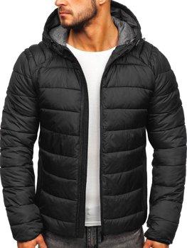 Куртка мужская демисезонная черная Bolf B1270