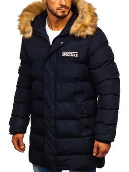 Куртка мужская зимняя парка темно-синяя Bolf 5972