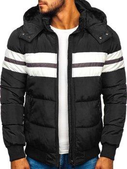 Куртка мужская зимняя спортивная черная Bolf JK397