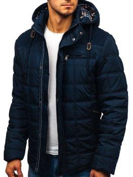 Куртка мужская зимняя темно-синяя Bolf 1820