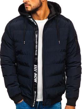 Куртка мужская зимняя темно-синяя Bolf 5894