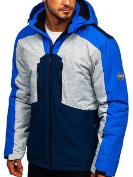 Куртка мужская лыжная синяя Bolf 1340