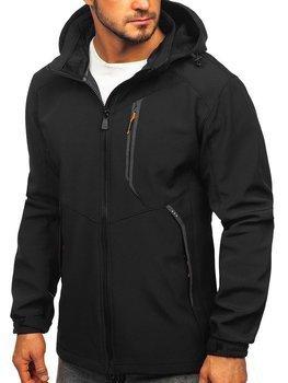 Куртка мужская софтшелл черно-оранжевая Bolf 12266