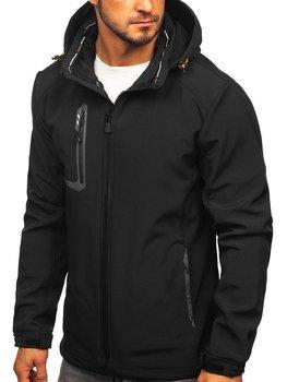Куртка мужская софтшелл черно-оранжевая Bolf 12267