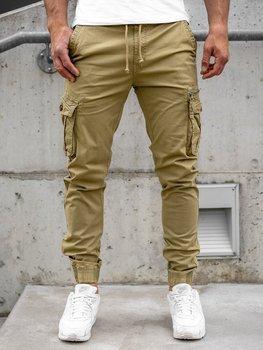 Кэмел мужские брюки джоггеры-карго Bolf CT6702