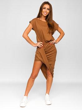 Кємел длинное женское платье bolf 8812